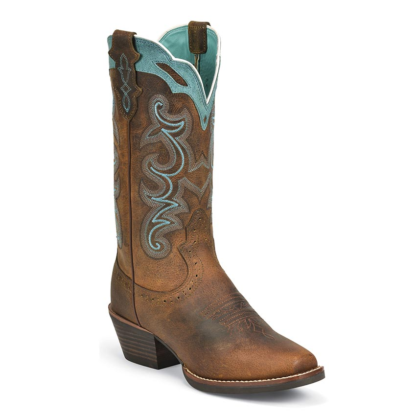 Justin Women S Rugged Tan Buffalo Western Boots